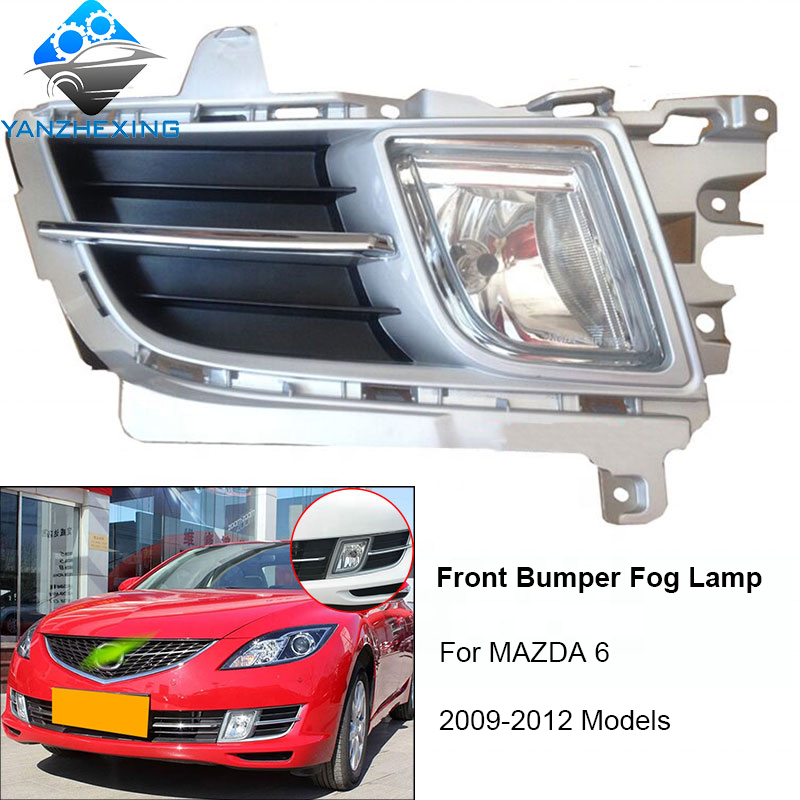 Front Bumper Fog Light lamp Assy For MAZDA 6 M6 2009 2010 2011 2012 Foglights Fog Lamp