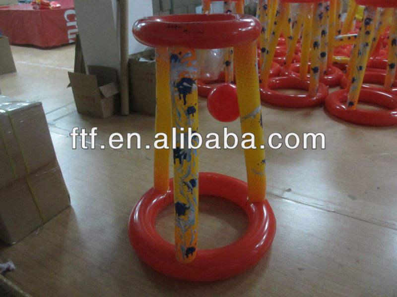 インフレータブルバスケットボールスタンド熱い販売プロモーションpvcバスケットボールスタンド