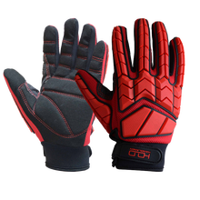 PRI Super Duty Mining Oil and Gas Hand Drilling Vibration Oilfield Anti Impact Gloves
