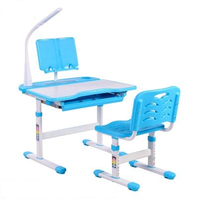 Hot Sales Adjustable Children Study Table and Chair Multi-function Kids Learning Desk and Chair Set