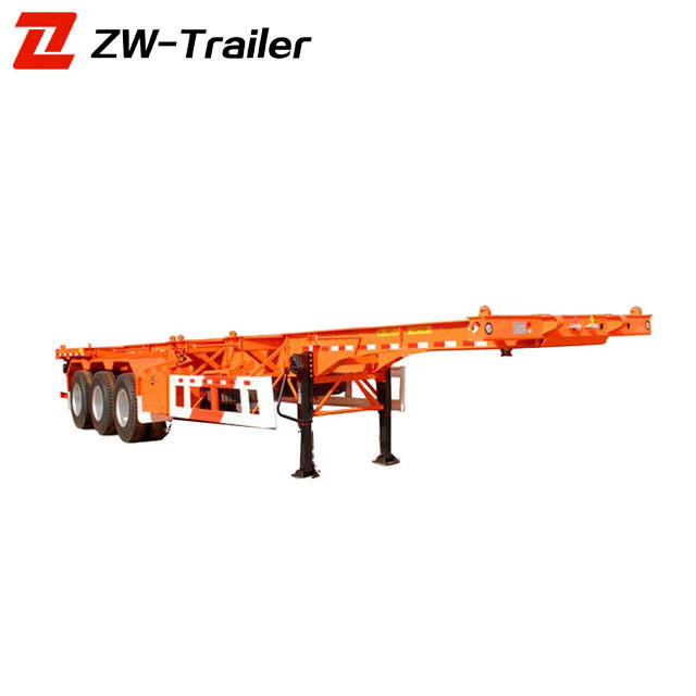 Low price 20 ft 40ft skeletal container tipping skel trailers for sale