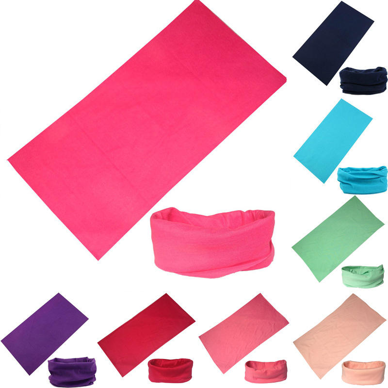 Wholesale solid color seamless tube bandana