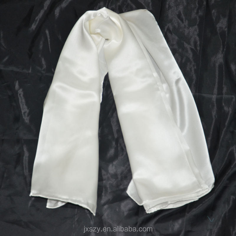 white silk satin ready to paint white silk scarf