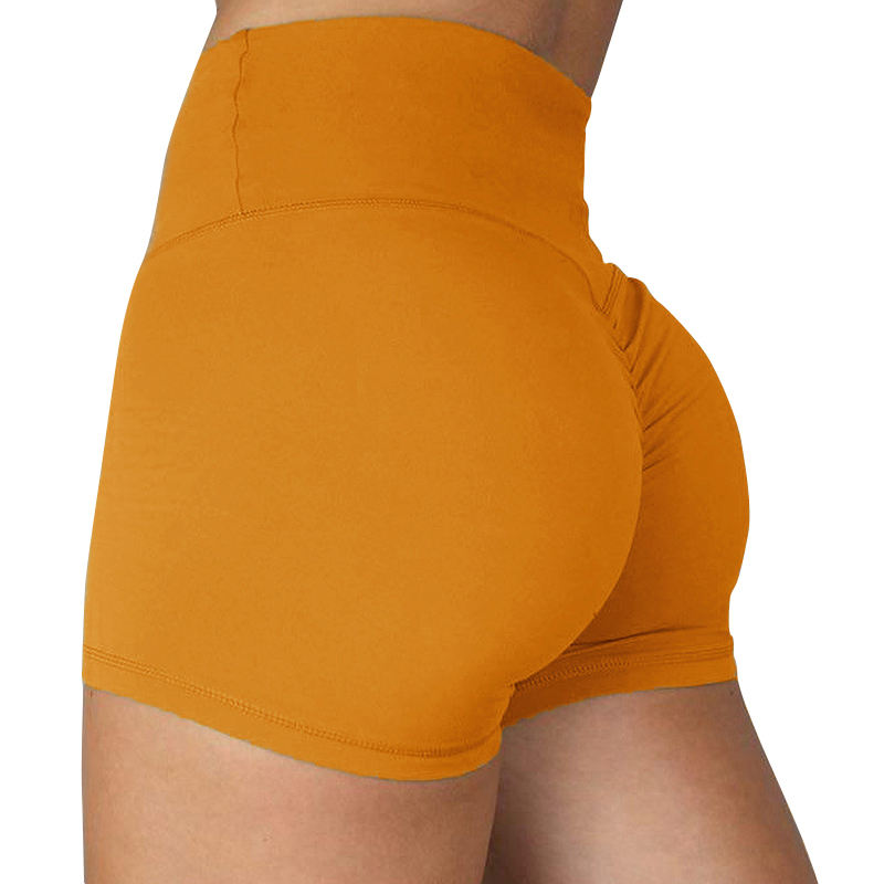 Women Scrunched Tummy Control Butt Lift Slimming Yoga Shorts for Sale