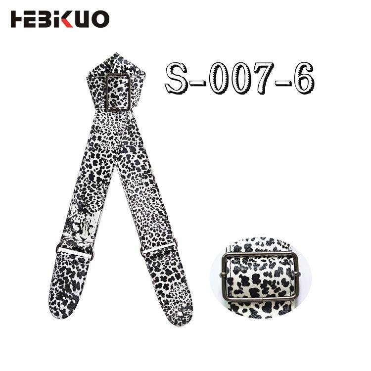 Động vật leopard print mát cậu bé da cho <span class=keywords><strong>guitar</strong></span> cổ dây đeo vai