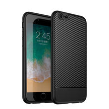 Viseaon Original mobile phone case for iphone6 plus highest quality soft rubber carbon fiber textured otterbox