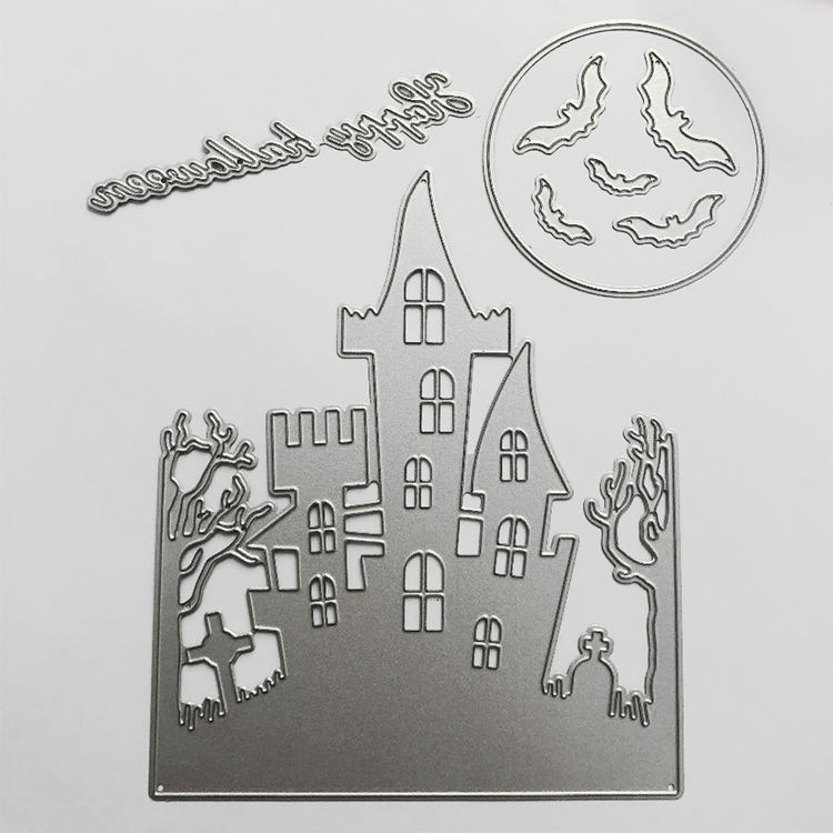 Halloween theme craft metal cutting dies for scrapbooking