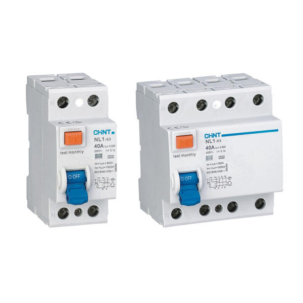Chint NL1-63 RCCB Differential switches 2P 4P Magnetic RCD Chint original NL1-63 Residual Current Operated Circuit Breaker