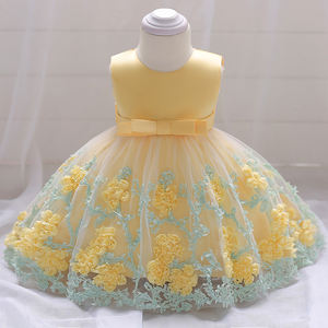 In Stock Small Baby Costume 2 Years Old Girls Boutique Modern Birthday Party dress L1845XZ
