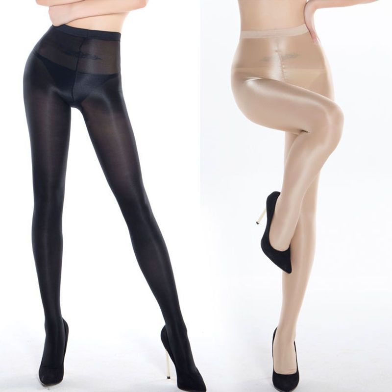 High Quality Shimmery Silky Women's 70D Sheer Oil Sexy Shiny Pantyhose