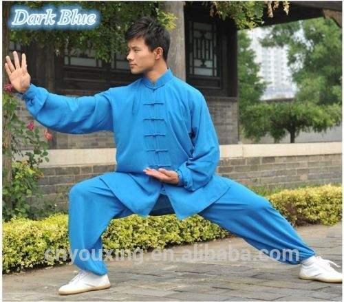 カンフー均一な武術太一太地xlsize少林寺ライトブルースーツ中国のカン