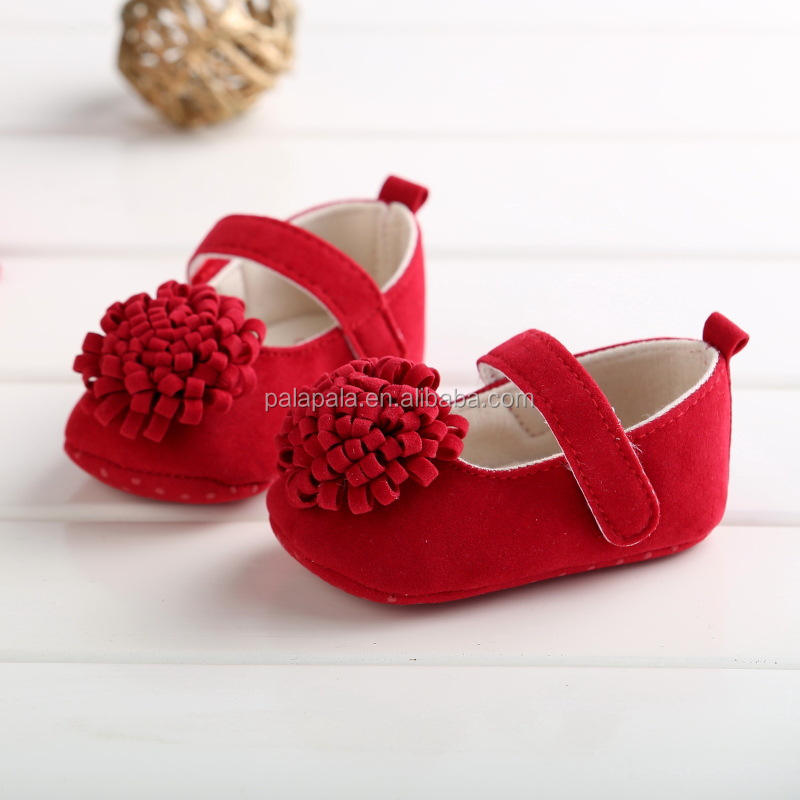Spring flower princess infant baby girls dress toddler non-slip dance soft shoes indoor