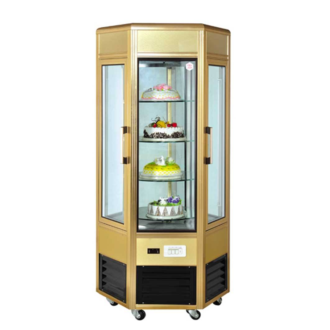 Green&health small high quality rotating upright cake display fridge showcase