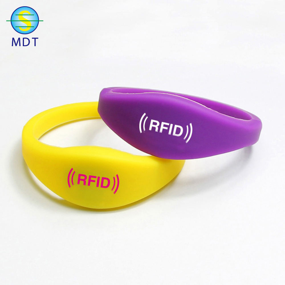High Quality Silicon RFID Bracelet, passive RFID waterproof Wristband