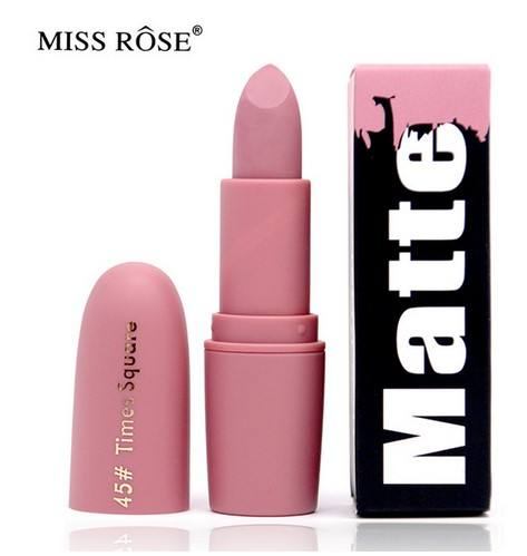 New Matte Lipstick for Women Sexy Brand Lips Color Cosmetics Waterproof Lipstick Long Lasting Miss Rose Lip stick Nude Makeup