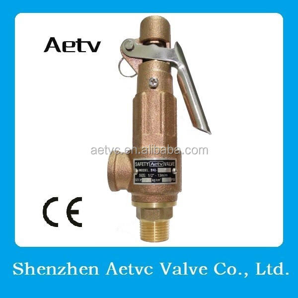 CE soft sealing bronze safety relief valve