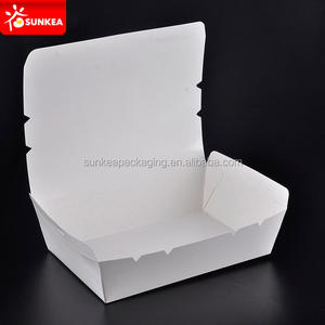 White paper food warmer lunch box