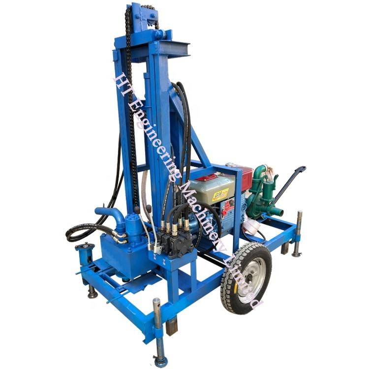 CE Certificate HT Brand Hydraulic Small Portable Water Well Drilling Rig Machine For Sale