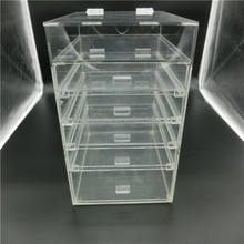 Wholesale 6 drawers clear acrylic cosmetics makeup organizer with drawers