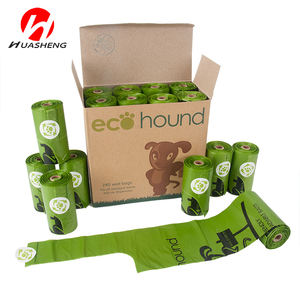 Custom disposable / biodegradable dog poop bags on roll