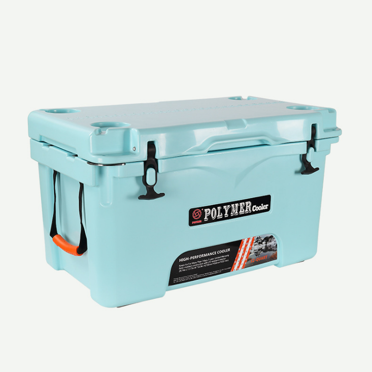 Custom 50L 52QT blue durable high performance outdoor commercial portable ice chest