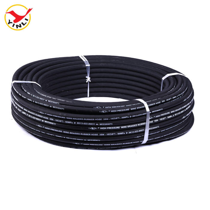 Hengshui YINLI High Quality OEM Hydraulic Rubber Hose SAE 100 R2 AT EN853 2SN DIN 2022 16MM 5/8Inch Steel Wire Rubber Hose