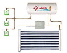 Heat Pipe Solar Water Heater System with Collector Hot Water