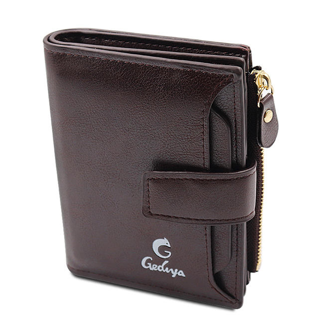 Fashion High Quality man Coin Purse RFID blocking PU Leather Wallet for Men