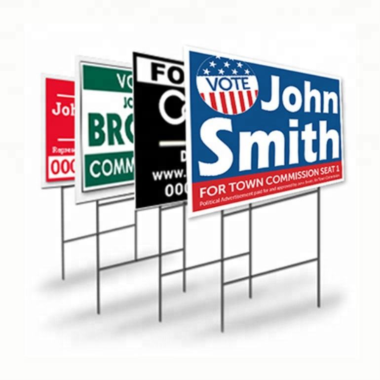 Custom Printing Full Color and Size Election Yard Signs
