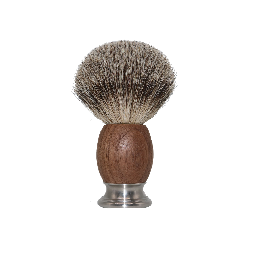 JDK 100% Silvertip Badger Bristle Shaving Shaver Brush with Deluxe Walnut Wood & Chrome Handle