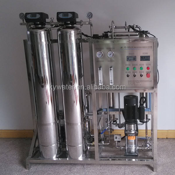 guangzhou factory distilled water treatment equipment 500LPH