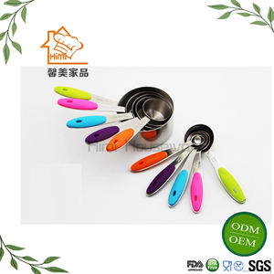 HIMI 10 pcs FDA Certificate Scoop Unique Measuring Cups And Spoons