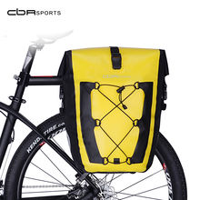 CBR ODM AS-002 High Frequency 27L Waterproof IPX6 Bicycle Grocery Carrier Double Rear Bag TPU Cycling Bike Rack Panniers