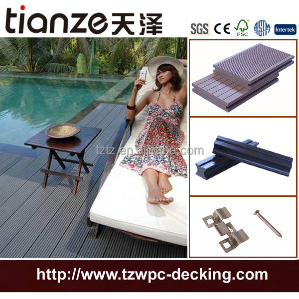 wood composite floating dock plastic wpc deck