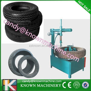 alibaba 100% real factory Used tire circle/ring cutting machine