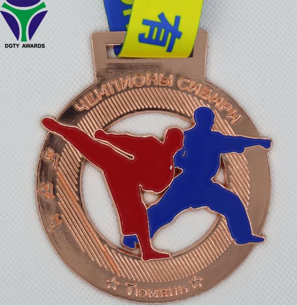 Popular barato medalla de taekwondo asociación