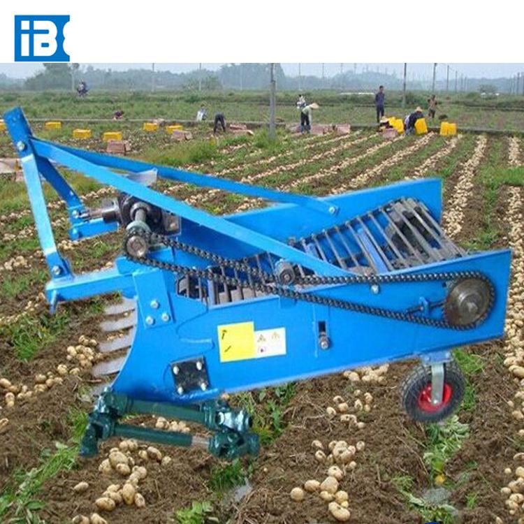 Carrots Garlic Potatoes Peanut Cassava combine Harvester with walking tractor