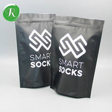 custom print Plastic sock packaging bag/ziplock stand up bag for socks
