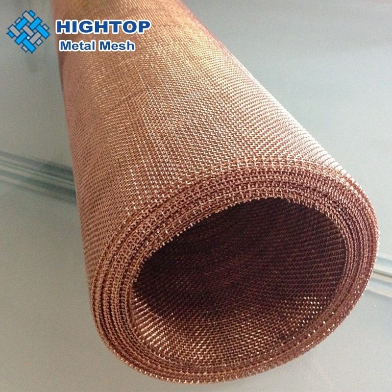 Ultra fine 0.04mm wire emf shielding woven wire copper mesh