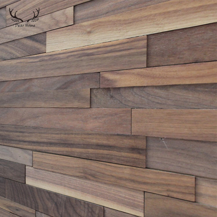 3D background natural wood wall panel