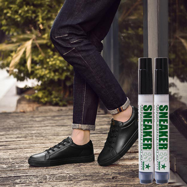 wholesale 6mm tip Premium Acrylic Paint Marker black leather shoes marker to renew your shoes