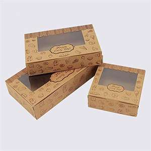 Professional design print Cupcake Paper Box Window Gift Packaging Box for Cake on Christmas' birthday party