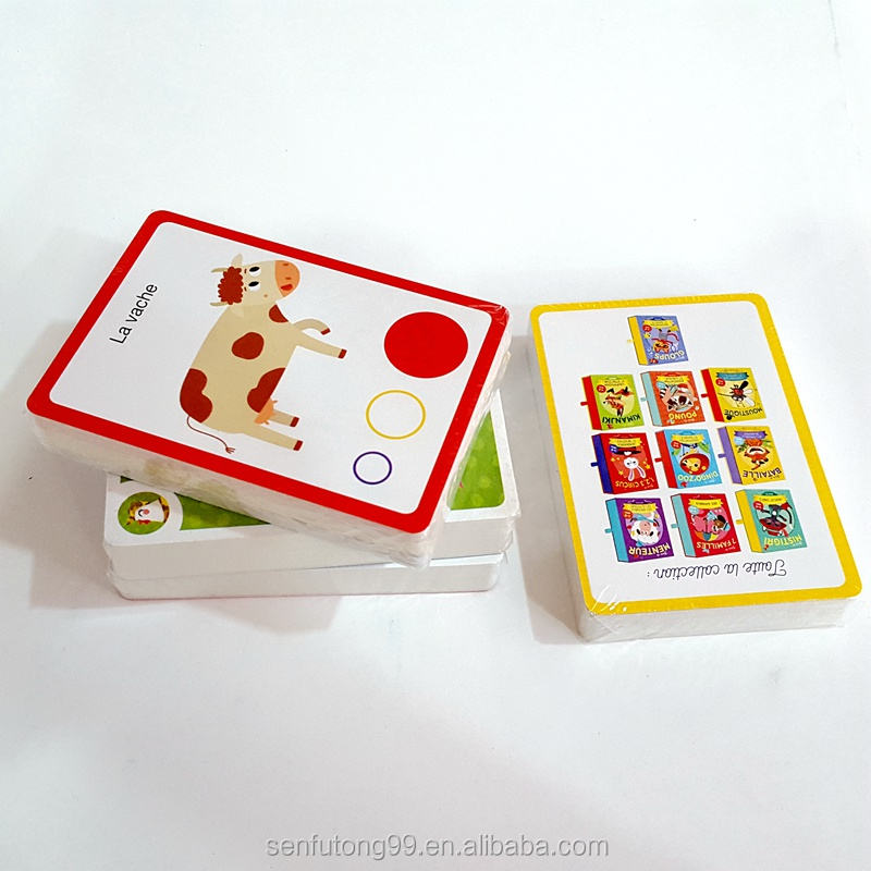Custom Memory Flash Cards Educational Flashcards Printing For Babies
