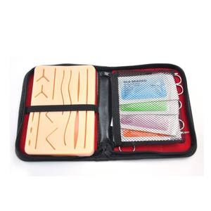 Suturing practice skin pad, suture pad with mesh, suturing pad with wounds