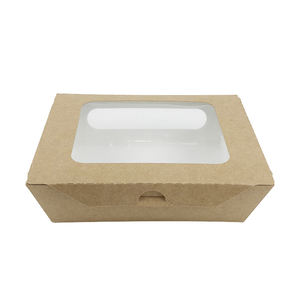 Custom Fast Delivery Takeaway Recycled Cardboard Containers Disposable Paper Food Packaging Box with window