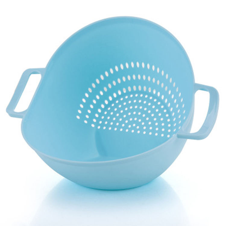 Kitchen Strainer, Double Handle Rice Basket Kitchen Basket Rice Wash Sieve Strainer Vegetable strainer