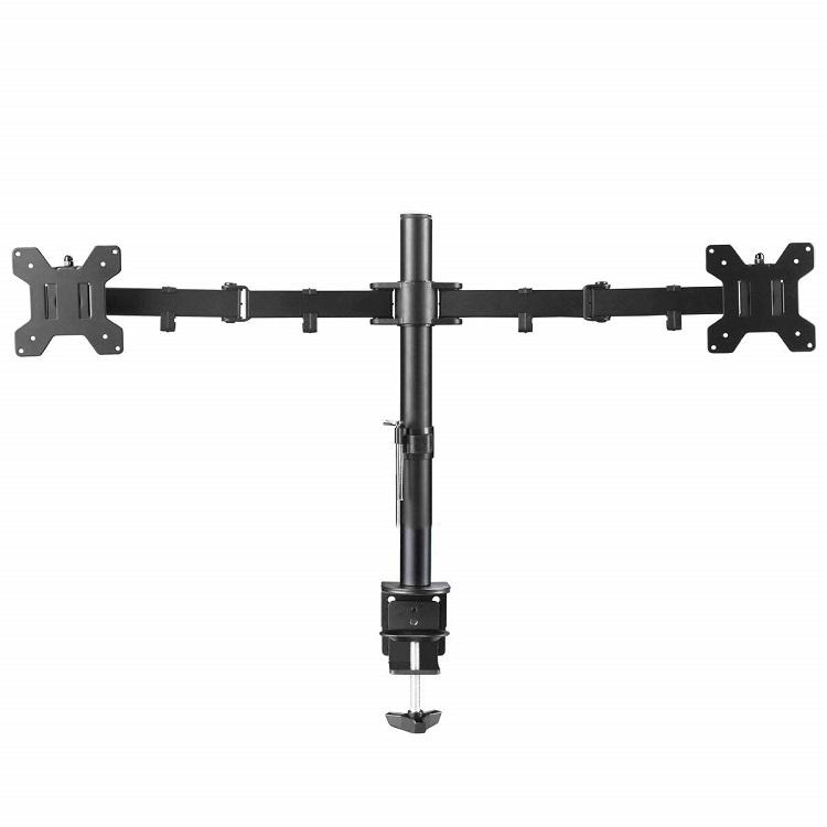 Adjustable Computer Dual Monitor Holder Arm Desk Mount Stand
