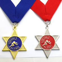 Custom Gold Plate Metal Medal Producers Supply Stars Tennis Sport Prize Souvenir Metal Medal With High Quality Lanyards