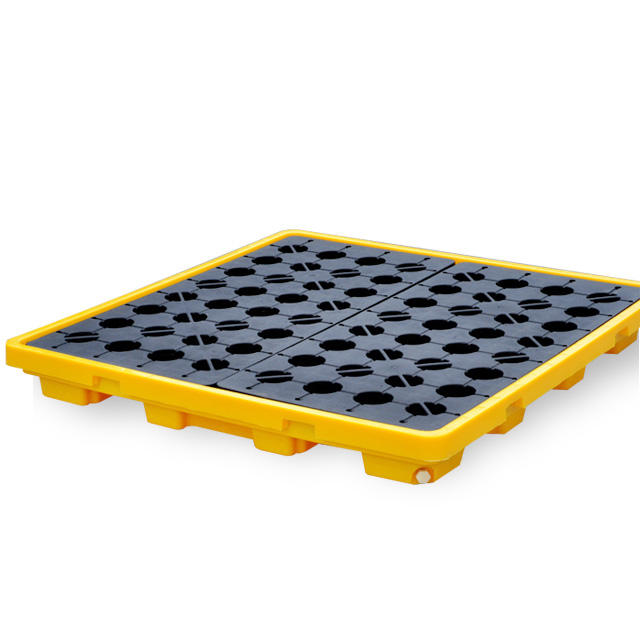 Industrial 4 Drums Spill Containment Pallet