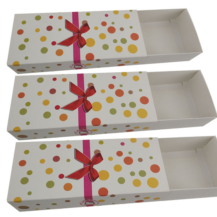 Sleeve and tray paper box for Christmas gift packaging with full color printing
